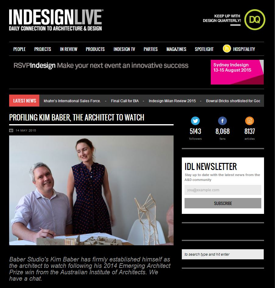 InDesign Live_Baber Profile